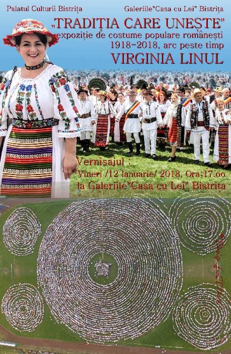 """""""Tradiția care unește"""" - expoziție de costume populare - vineri, 12 ianuarie 2018, ora 17.00 - Casa cu Lei"""