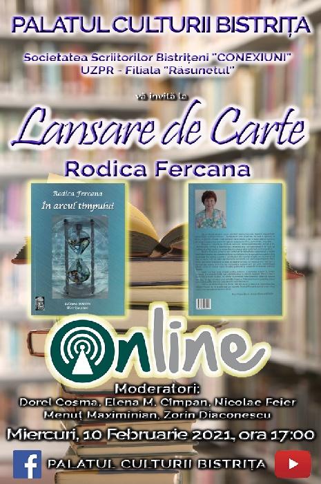 Lansare de carte - Rodica Fercana, ora 17:00