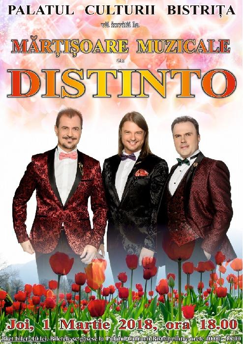 Mărțișoare muzicale cu DISTINTO - 1 Martie 2018, ora 18.00