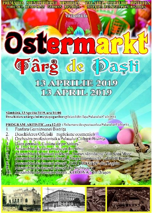 """Târg de Paști - """"OSTERMARKT"""" - sâmbătă, 13 aprilie 2019"""