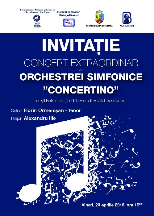 Concert extraordinar - vineri, 20 aprilie 2018, ora 19.00