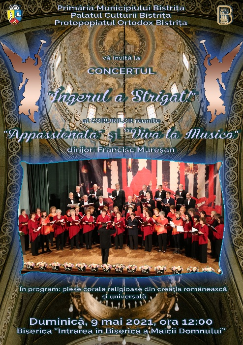 """CONCERTUL de muzică corală """"Îngerul a Strigat"""""""