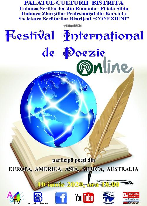 Festival International de Poezie - on line - 10 iunie 2020, ora 18.00
