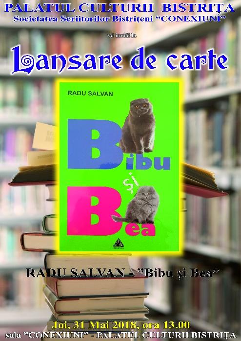 """Lansare de carte pentru copii - Radu Salvan - """"Bibu și Bea"""""""