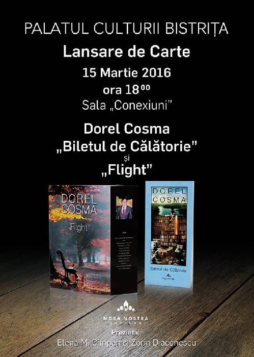 Lansare de carte - Marti, 15 Martie 2016, ora 18.00 la Palatul Culturii Bistrita