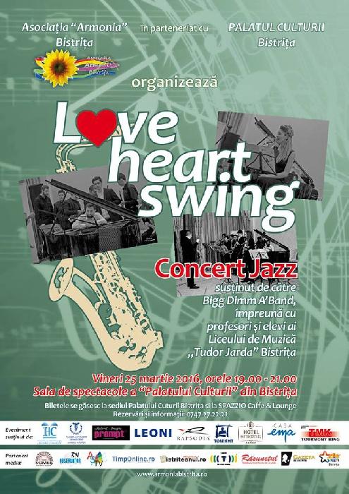 Concert JAZZ - 25 martie 2016, ora 19.00, Palatul Culturii Bistrita
