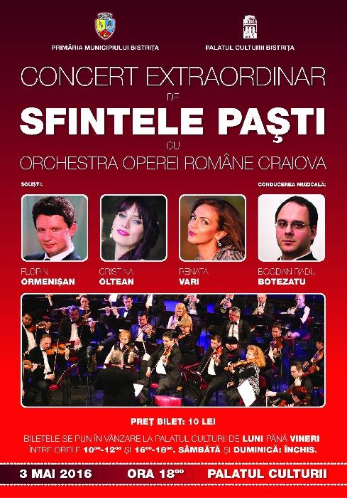 Concert Extraordinar de Pasti - 3 Mai 2016, ora 18.00
