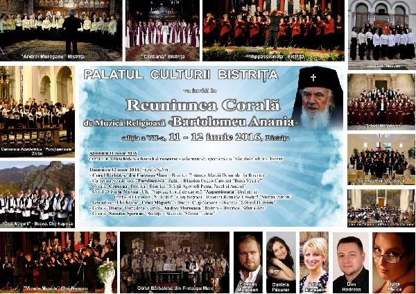 Reuniunea Corala de Muzica Religioasa -Bartolomeu-Anania- 11, 12 iunie 2016