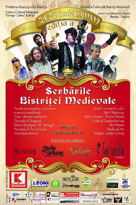 Serbarile Bistritei Medievale 24 - 26 Iunie 2016