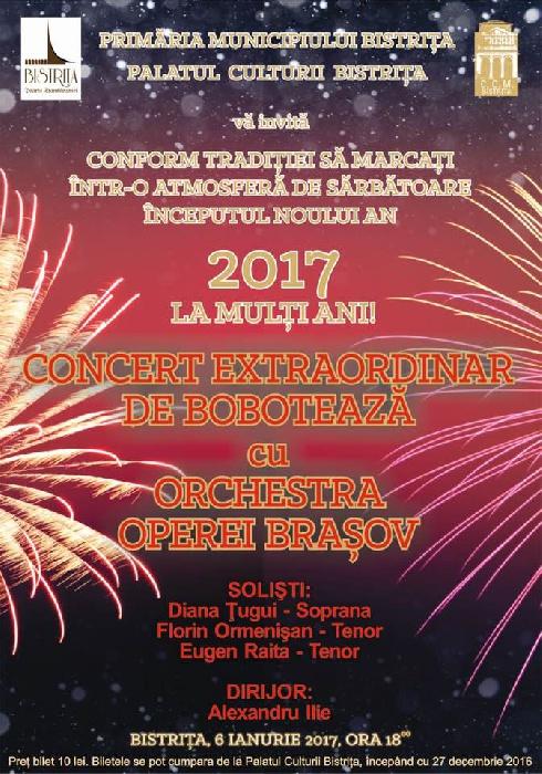 Concert Extraordinar de BOBOTEAZA - 6 Ianuarie 2017, ora 18.00