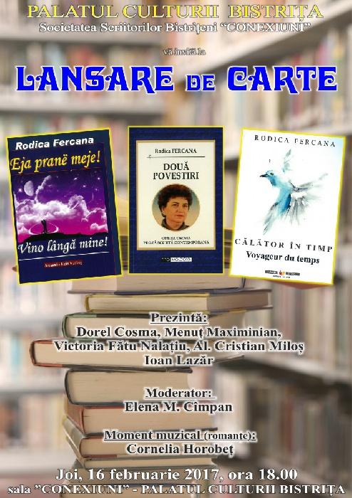 Lansare de carte - Joi, 16 februarie 2017, ora 18.00