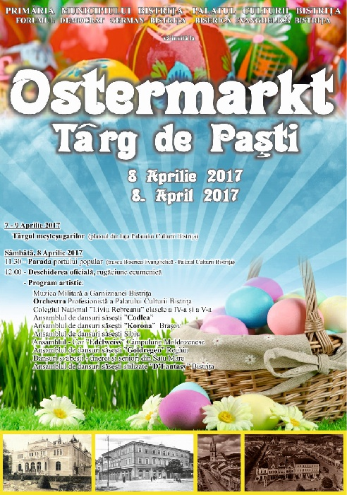 OSTERMARKT - Targ de Pasti, 8 Aprilie 2017