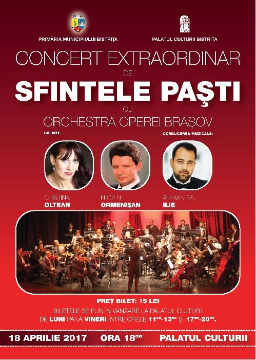 Concert Extraordinar de Sfintele Pasti 2017