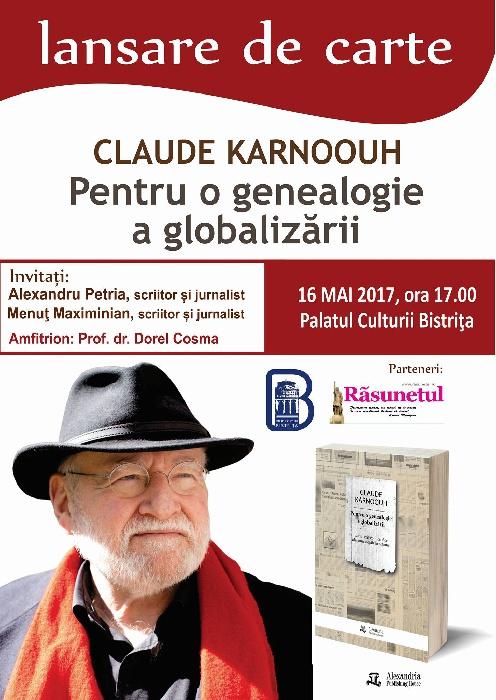 Lansare de carte - Claude Karnoouh - Marti, 16 mai 2017, ora 17.00