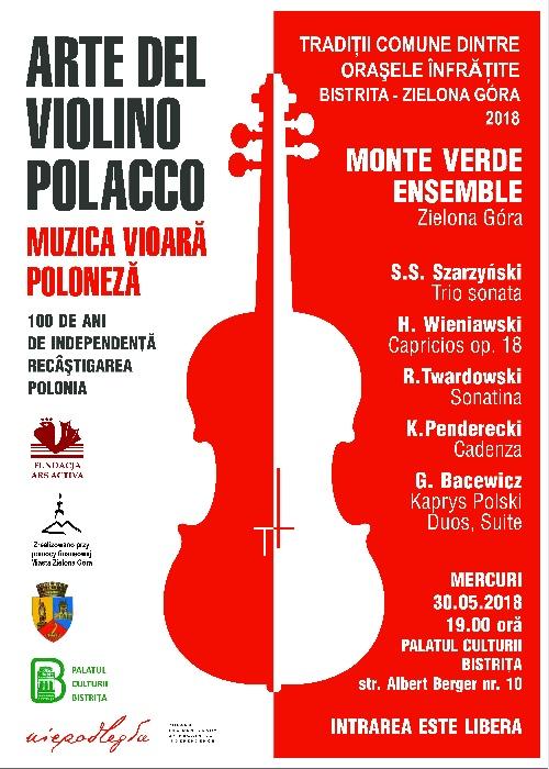 Concert de vioară - Tradiții comune între orașele înfrățite Bistrița și Zielona Gora
