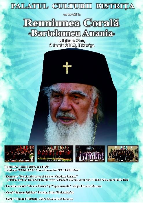 """Reuniunea corală """"Bartolomeu Anania"""" - Duminică, 9 iunie 2019, ora 11.30 - Biserica """"Coroana"""""""