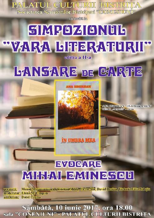 Simpozion literar - Lansare de carte - Ana Zegrean - Sambata 10 Iunie 2017, ora 18.00