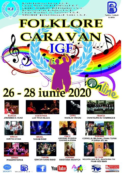 Caravana Folclorica IGF, 26 - 28 iunie 2020, ONLINE