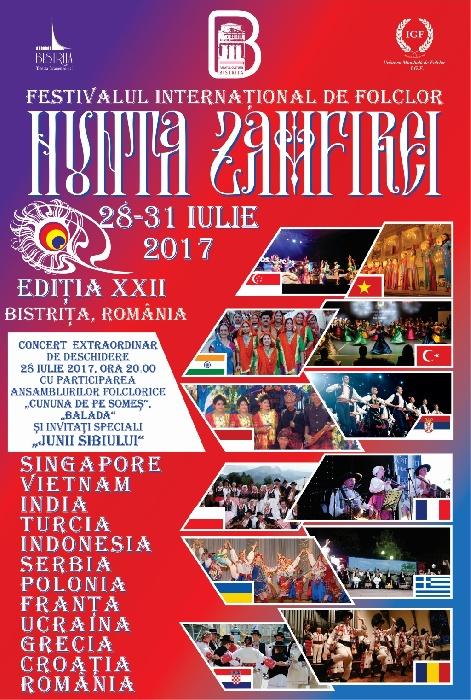 """Festivalul Internațional de Folclor """"NUNTA ZAMFIREI"""", 28 - 31 iulie 2017"""
