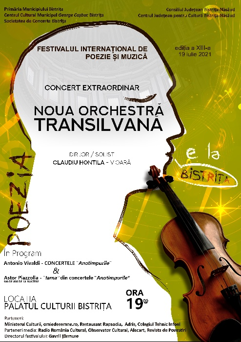CONCERT EXTRAORDINAR - NOUA ORCHESTRĂ TRANSILVANĂ - Dirijor/Solist, CLAUDIU HONTILĂ