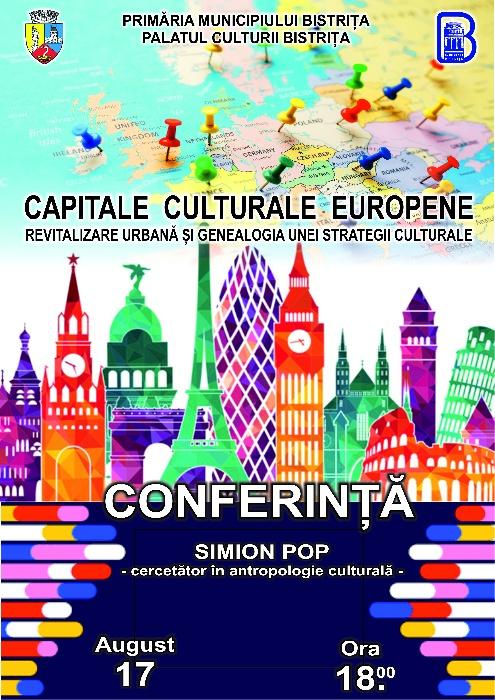 Conferinta - Capitale Culturale Europene - marți, 17 august 2021, ora 18.00