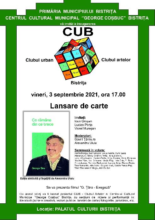 """""""CUB -Club Urban Bistrița- LANSARE DE CARTE"""
