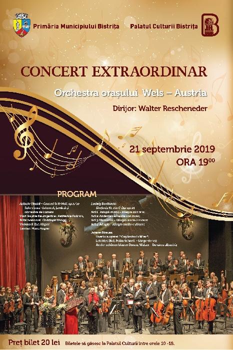 Concert simfonic extraordinar - 21 septembrie 2019, ora 19.00
