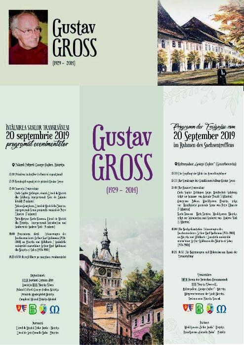 Lansare de carte - Gustav Gross - 20 septembrie 2019, ora 17.00