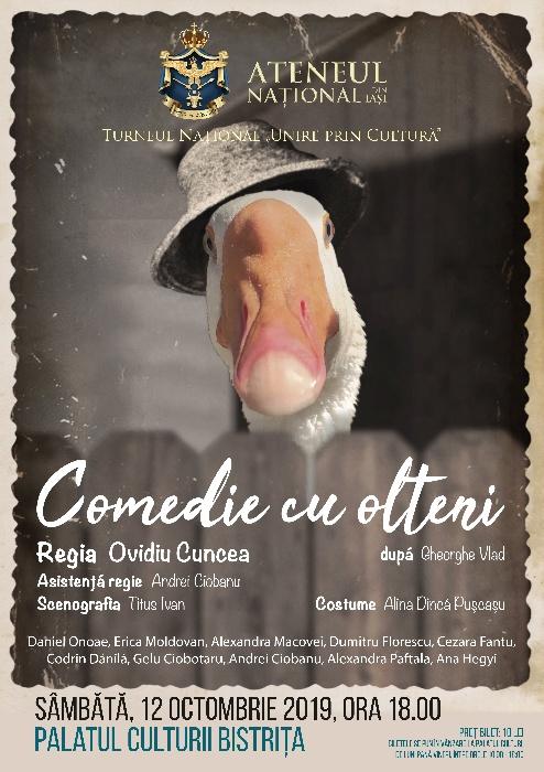 """""""Comedie cu olteni"""" - sâmbătă, 12 octombrie 2019, ora 18.00"""