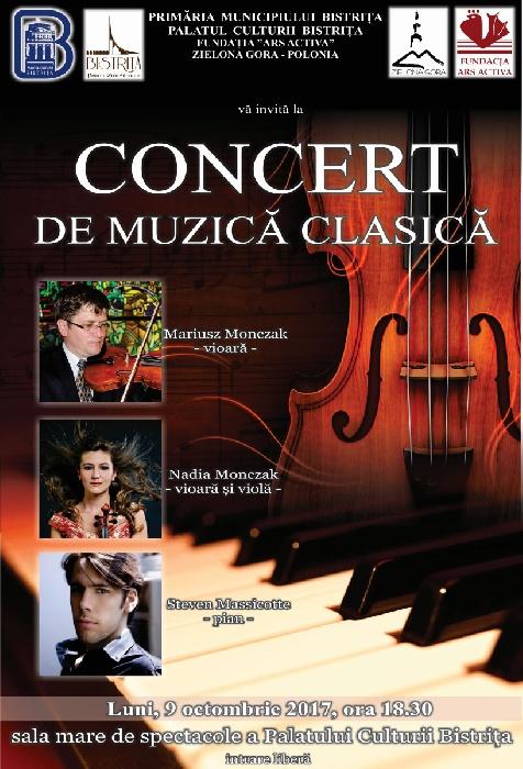 Concert de muzică clasică - Luni, 9 octombrie 2017, ora 18.00