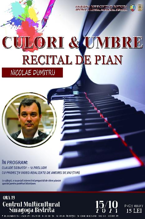 """RECITAL DE PIAN - """"Culor și Umbre"""""""