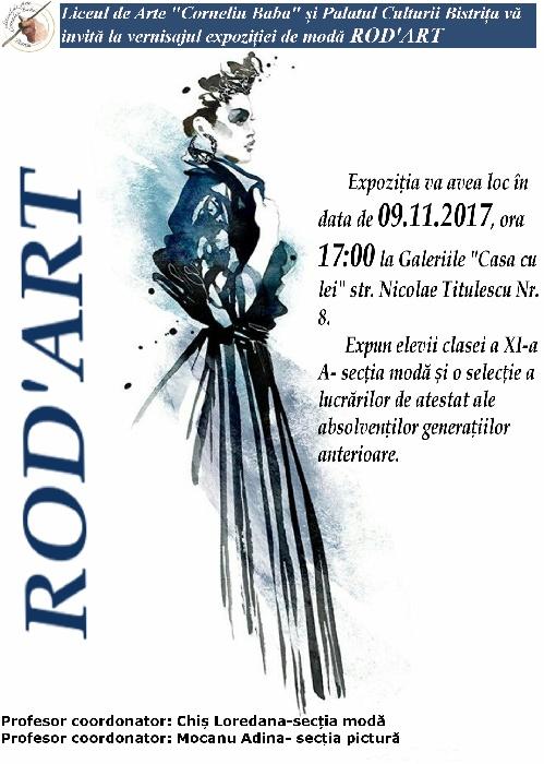 """Rod""""Art - expoziție vestimentară a elevilor Liceului de Arte """"Corneliu Baba"""" Bistrița"""
