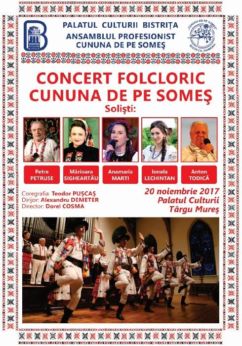 """Concert al Ansamblului Folcloric Profesionist """"Cununa de pe Someș"""" la Tg. Mureș"""