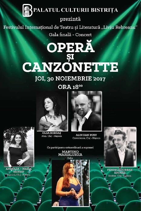 Operă și Canzonette - Joi, 30 noiembrie 2017, ora 18.00
