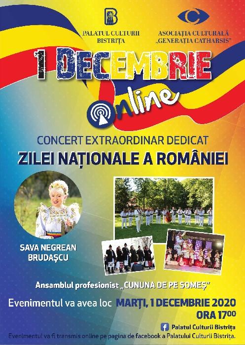 1 DECEMBRIE - Concert extraordinar dedicat ZILEI NAȚIONALE A ROMÂNIEI