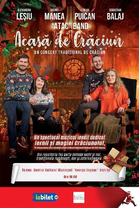 Concert tradițional de Crăciun - 15 decembrie 2019, ora 19.00