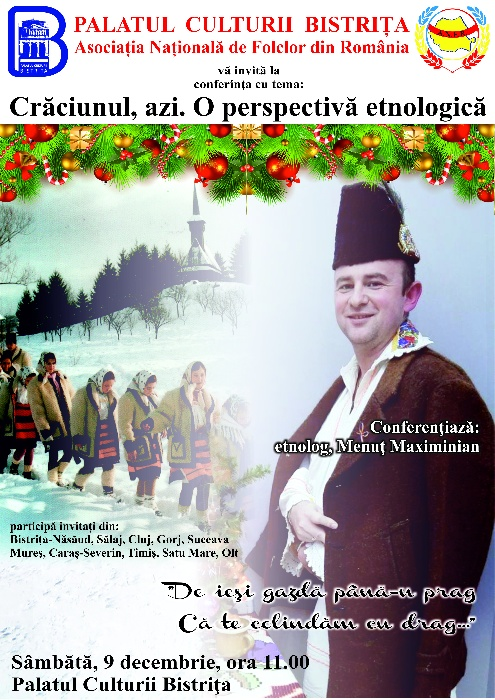 Conferință: Crăciunul, azi. O perspectivă etnologică