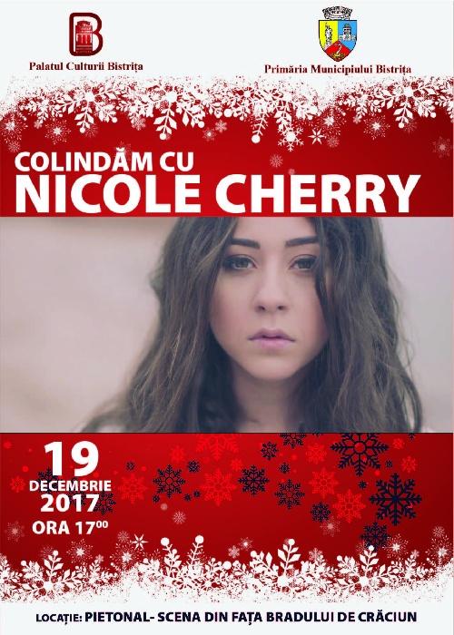 Colindăm cu NICOLE CHERRY - marți, 19 decembrie, ora 17.00, pietonal-scena de lângă brad