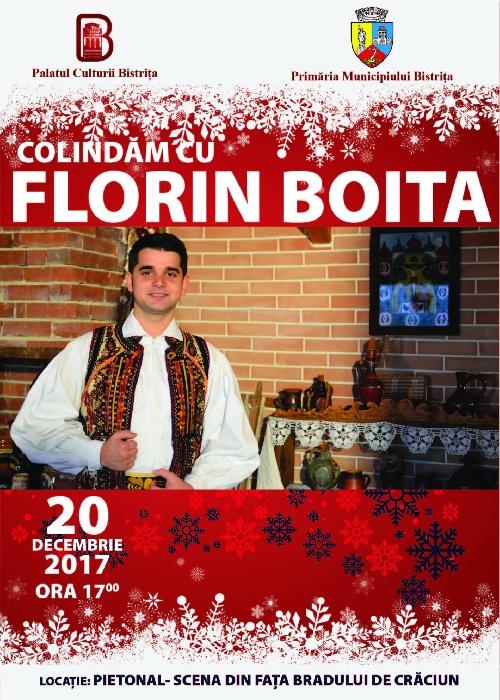 Colindăm cu FLORIN BOITA - miercuri, 20 decembrie, ora 17.00, pietonal - scena de lângă brad