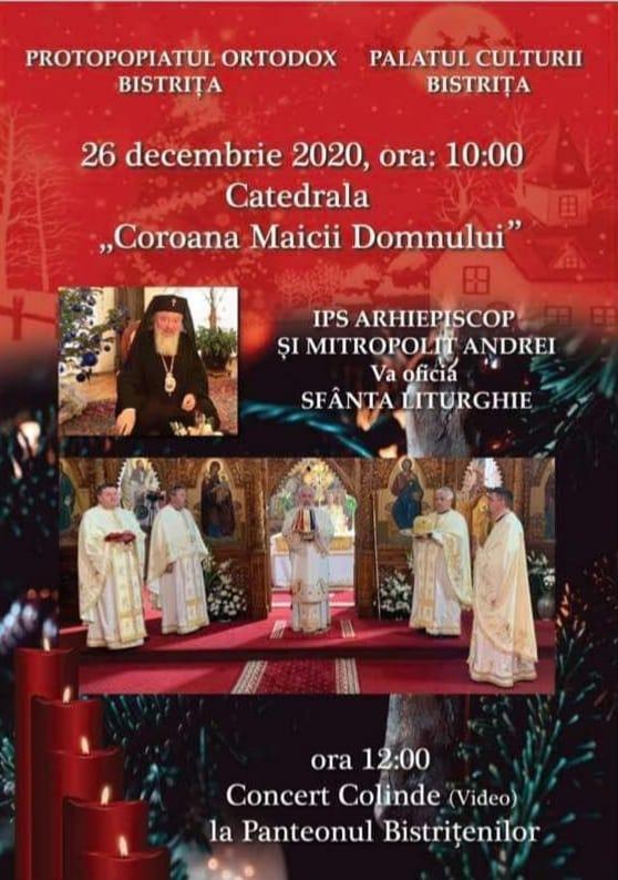 Concert de colinde (video), 26 decembrie 2020, ora 10.00 - Biserica de lângă Coroana